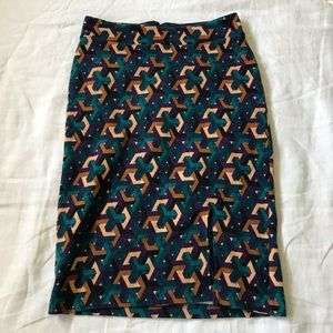 maeve // anthropologie geometric pencil skirt